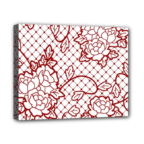 Transparent Decorative Lace With Roses Canvas 10  X 8  by Nexatart