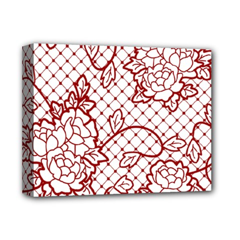 Transparent Decorative Lace With Roses Deluxe Canvas 14  X 11
