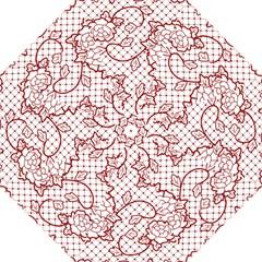 Transparent Decorative Lace With Roses Hook Handle Umbrellas (medium) by Nexatart