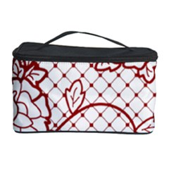 Transparent Decorative Lace With Roses Cosmetic Storage Case