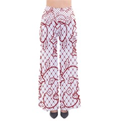 Transparent Decorative Lace With Roses Pants by Nexatart
