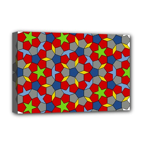 Penrose Tiling Deluxe Canvas 18  X 12   by Nexatart