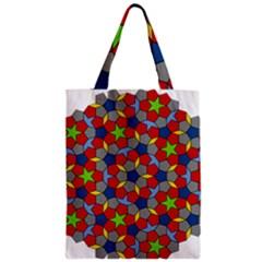 Penrose Tiling Zipper Classic Tote Bag by Nexatart