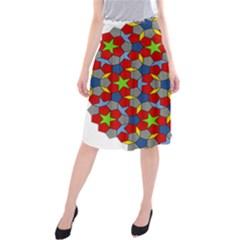 Penrose Tiling Midi Beach Skirt
