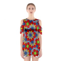 Penrose Tiling Shoulder Cutout One Piece