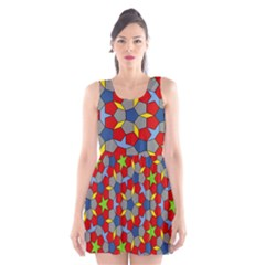 Penrose Tiling Scoop Neck Skater Dress