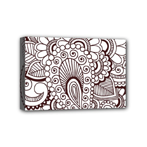 Henna Line Art Clipart Mini Canvas 6  X 4  by Nexatart