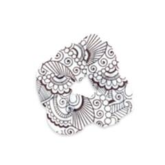 Henna Line Art Clipart Velvet Scrunchie