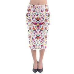 Otomi Vector Patterns On Behance Midi Pencil Skirt by Nexatart