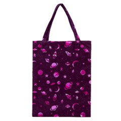 Space Pattern Classic Tote Bag by ValentinaDesign
