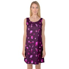 Space Pattern Sleeveless Satin Nightdress by ValentinaDesign