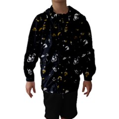 Space pattern Hooded Wind Breaker (Kids) by ValentinaDesign