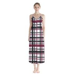Plaid Pattern Chiffon Maxi Dress