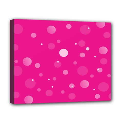 Decorative Dots Pattern Deluxe Canvas 20  X 16   by ValentinaDesign