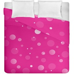 Decorative Dots Pattern Duvet Cover Double Side (king Size) by ValentinaDesign