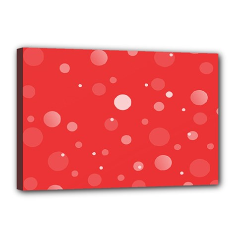 Decorative Dots Pattern Canvas 18  X 12  by ValentinaDesign