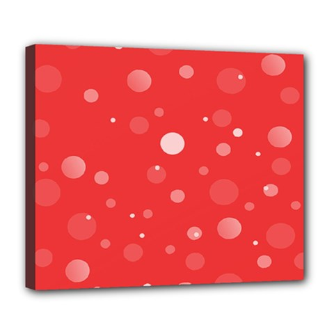 Decorative Dots Pattern Deluxe Canvas 24  X 20   by ValentinaDesign