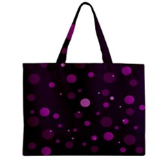 Decorative Dots Pattern Zipper Mini Tote Bag by ValentinaDesign