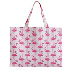 Pink Flamingos Pattern Zipper Mini Tote Bag by Nexatart
