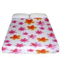 Watercolor Summer Flowers Pattern Fitted Sheet (king Size) by TastefulDesigns