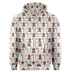 Christmas Trio Pattern Men s Zipper Hoodie