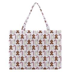 Christmas Trio Pattern Medium Zipper Tote Bag by Nexatart