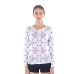 Density Multi Dimensional Gravity Analogy Fractal Circles Women s Long Sleeve Tee