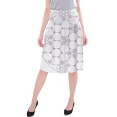 Density Multi Dimensional Gravity Analogy Fractal Circles Midi Beach Skirt