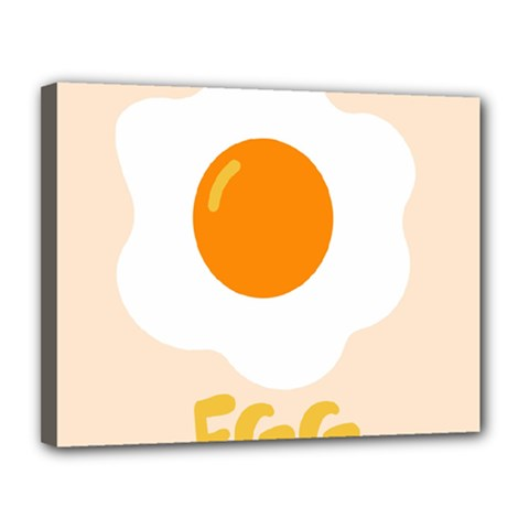 Egg Eating Chicken Omelette Food Canvas 14  X 11