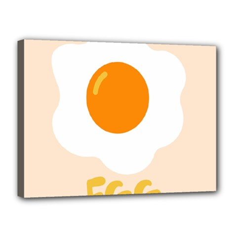 Egg Eating Chicken Omelette Food Canvas 16  X 12