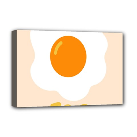 Egg Eating Chicken Omelette Food Deluxe Canvas 18  X 12