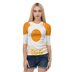 Egg Eating Chicken Omelette Food Quarter Sleeve Tee