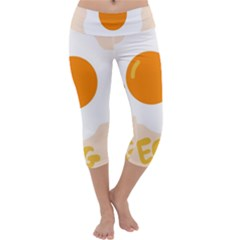 Egg Eating Chicken Omelette Food Capri Yoga Leggings