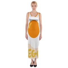 Egg Eating Chicken Omelette Food Fitted Maxi Dress