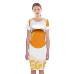 Egg Eating Chicken Omelette Food Classic Short Sleeve Midi Dress