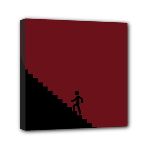 Walking Stairs Steps Person Step Mini Canvas 6  X 6  by Nexatart
