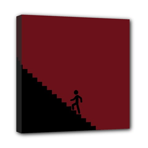 Walking Stairs Steps Person Step Mini Canvas 8  X 8  by Nexatart