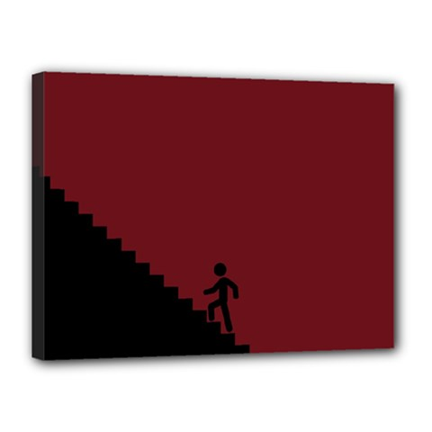 Walking Stairs Steps Person Step Canvas 16  X 12  by Nexatart