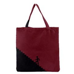 Walking Stairs Steps Person Step Grocery Tote Bag