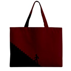 Walking Stairs Steps Person Step Zipper Mini Tote Bag
