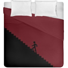 Walking Stairs Steps Person Step Duvet Cover Double Side (king Size)