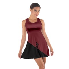 Walking Stairs Steps Person Step Cotton Racerback Dress