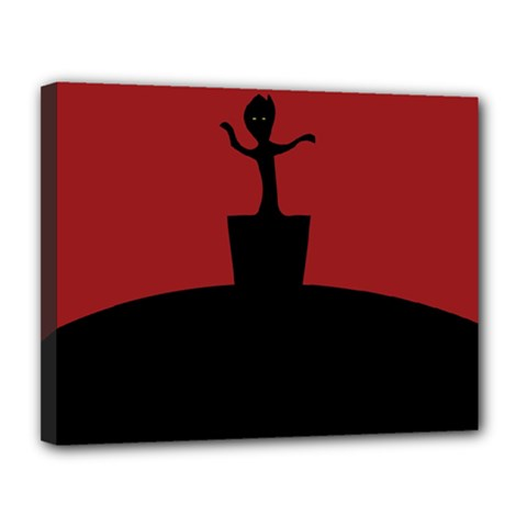 Baby Groot Guardians Of Galaxy Groot Canvas 14  X 11  by Nexatart