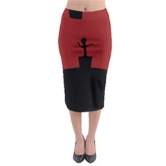 Baby Groot Guardians Of Galaxy Groot Midi Pencil Skirt