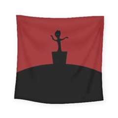 Baby Groot Guardians Of Galaxy Groot Square Tapestry (small)