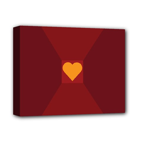 Heart Red Yellow Love Card Design Deluxe Canvas 14  X 11