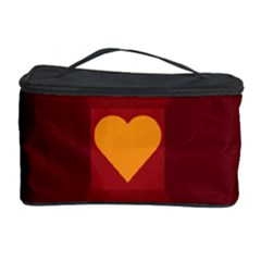 Heart Red Yellow Love Card Design Cosmetic Storage Case