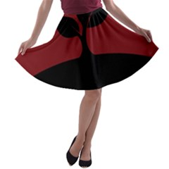 Plant Last Plant Red Nature Last A Line Skater Skirt by Nexatart