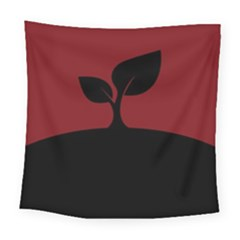 Plant Last Plant Red Nature Last Square Tapestry (large) by Nexatart