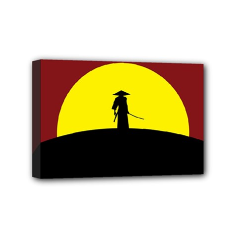 Samurai Warrior Japanese Sword Mini Canvas 6  X 4